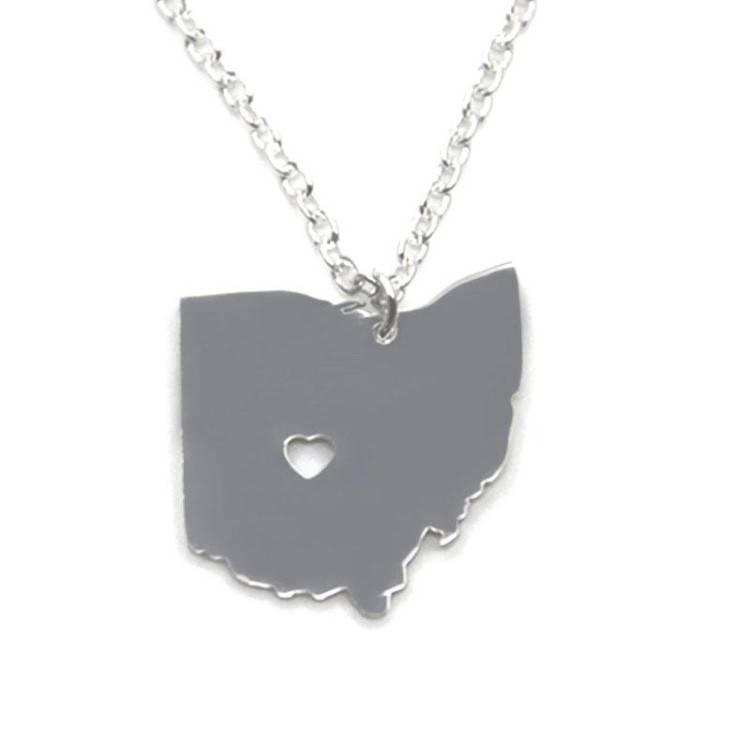 Fleurish Home State of Ohio Necklace