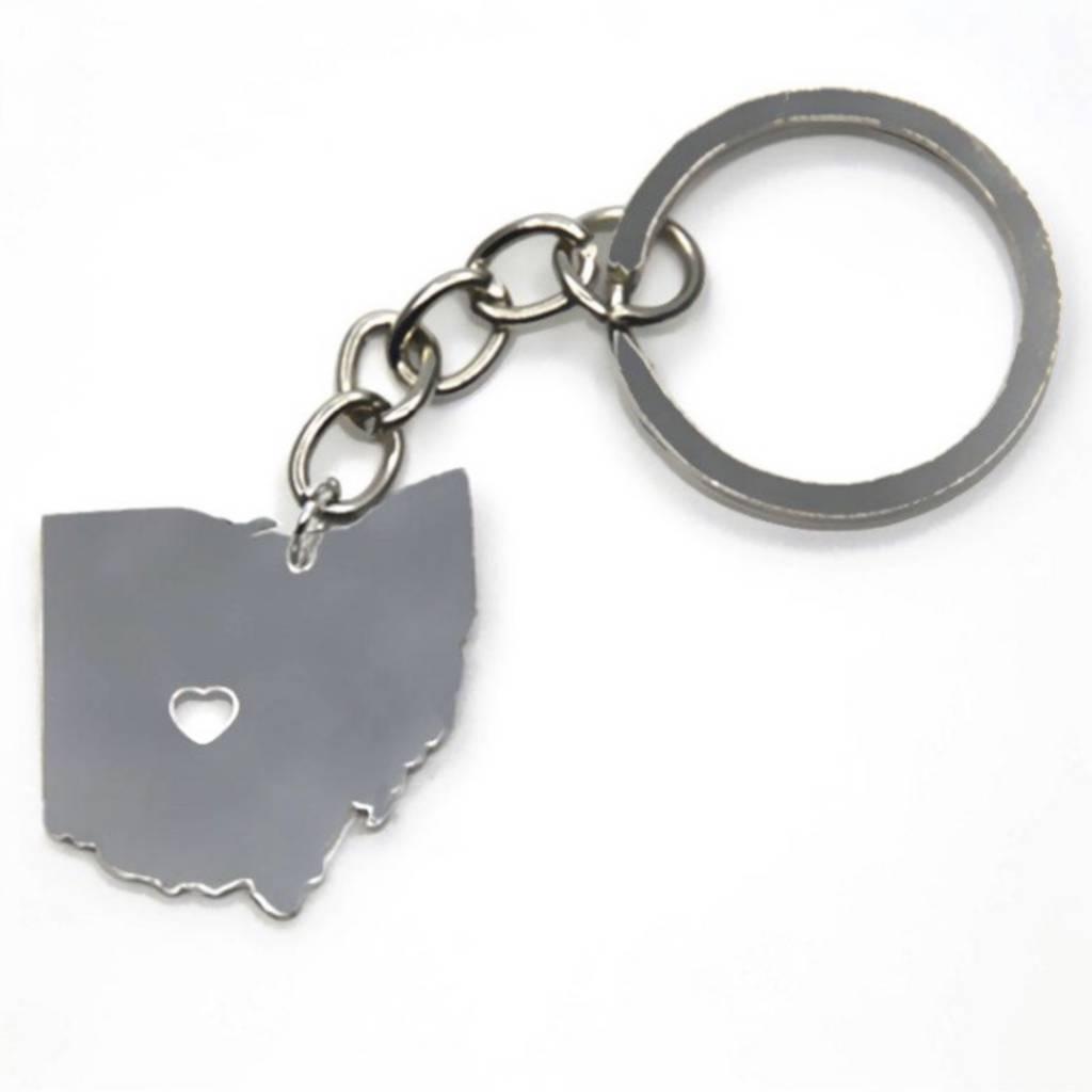 Fleurish Home State of Ohio Keychain