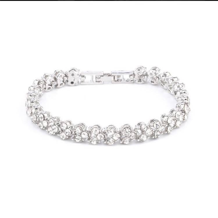 Fleurish Home Zircon Crystal Tennis Bracelet
