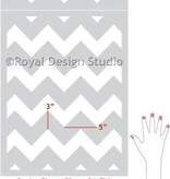 Chevron Medium Stencil