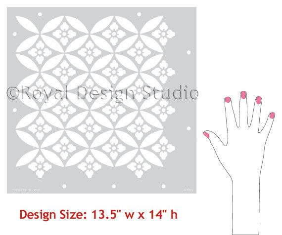 Floral Lattice Allover Stencil