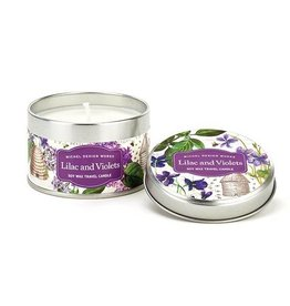 Michel Design Works Lilac and Violets Travel Candle