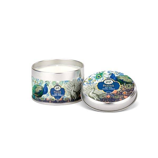Michel Design Works Peacock Travel Candle