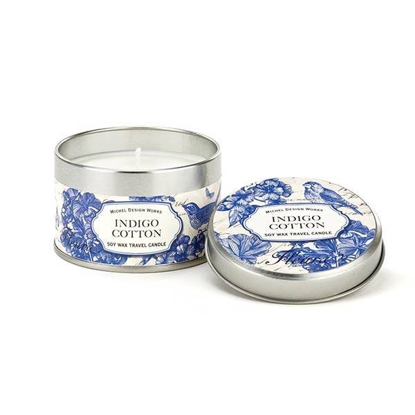 Michel Design Works Indigo Cotton Travel Candle