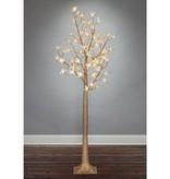 Fleurish Home 6' Lighted Magnolia Tree