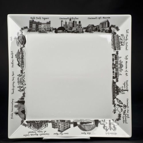 Fleurish Home Cincinnati Lg Square Platter