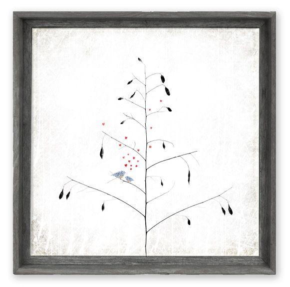 Sweet Gumball Bluebirds in a Tree Shelf Art