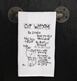 Fleurish Home Quotes Towel Cat Wisdom *last chance