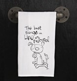 Fleurish Home Quotes Towel Best Things are Rescued *last chance