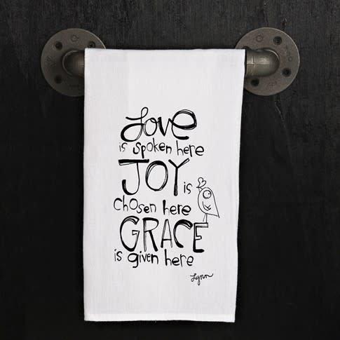 Fleurish Home Quotes Towel Love Spoken Here .