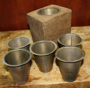 Fleurish Home Metal Sugar Mold Cup (one cup)