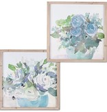 Fleurish Home Blue Bouquet Framed Wall Art (Choice of 2 Styles)