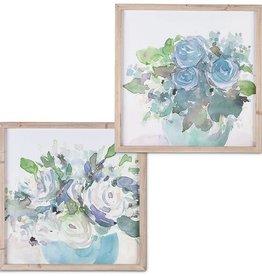 Fleurish Home Blue Bouquet Framed Wall Art (Choice of 2 Styles)