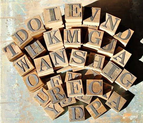 Fleurish Home Reclaimed Wood & Metal Block Letters
