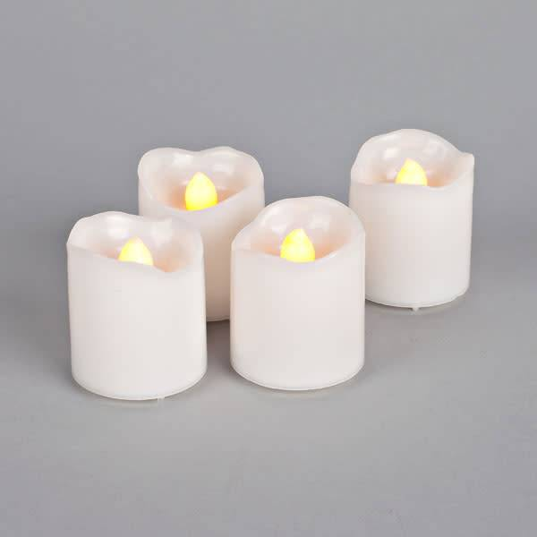 Fleurish Home Set of 4 LED Votive Candles w Remote