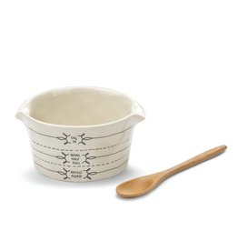 Fleurish Home Fill Me Up Appetizer Bowl with Spoon