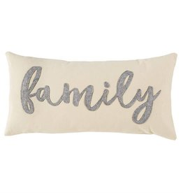 Mudpie FAMILY FELT PILLOW