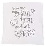 Mudpie MUSLIN MOON AND STARS SWADDLE *last chance