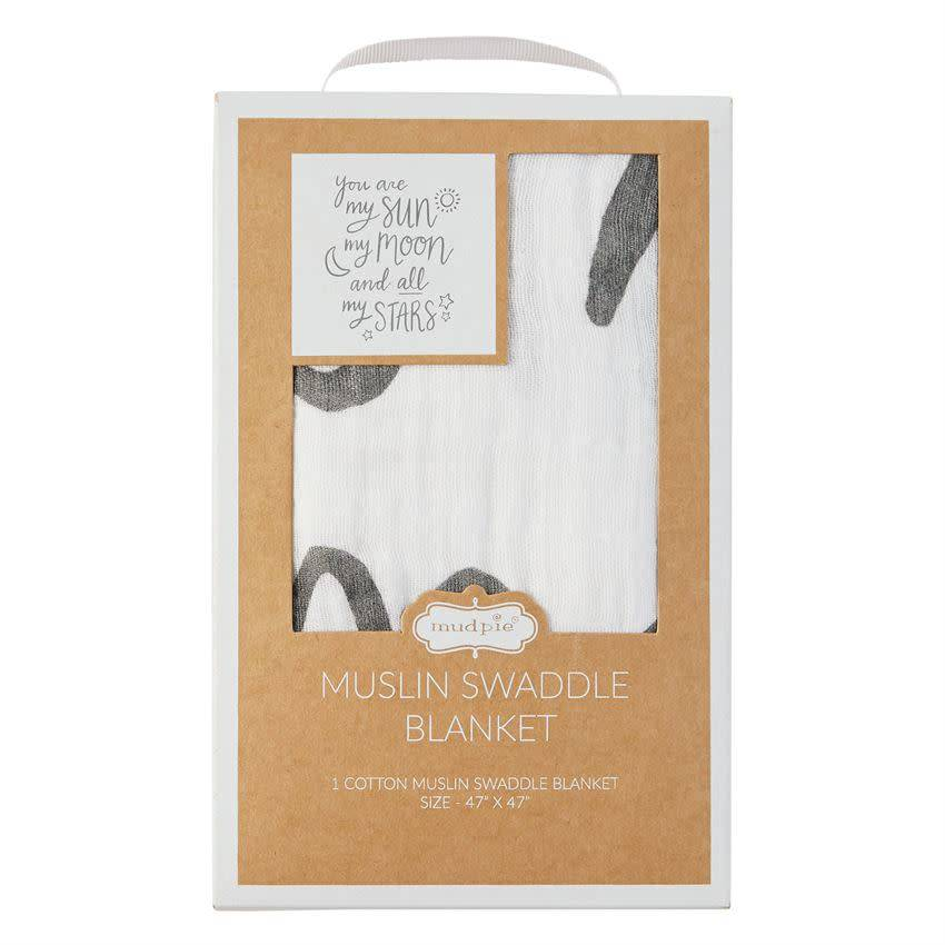 Mudpie MUSLIN MOON AND STARS SWADDLE