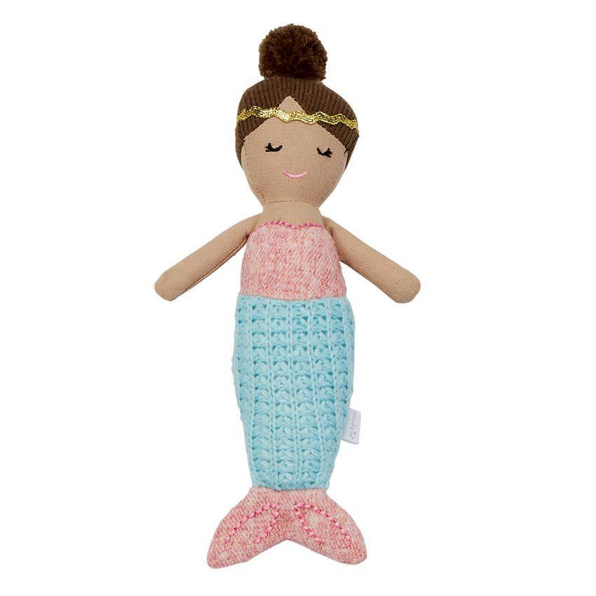 Mudpie BLUE TAIL MERMAID RATTLE
