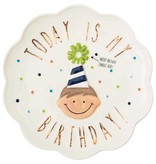 Mudpie BIRTHDAY BOY CANDLE PLATE