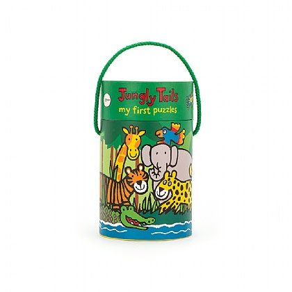 Jellycat Jungly Tails Puzzle - 4 In One Puzzle