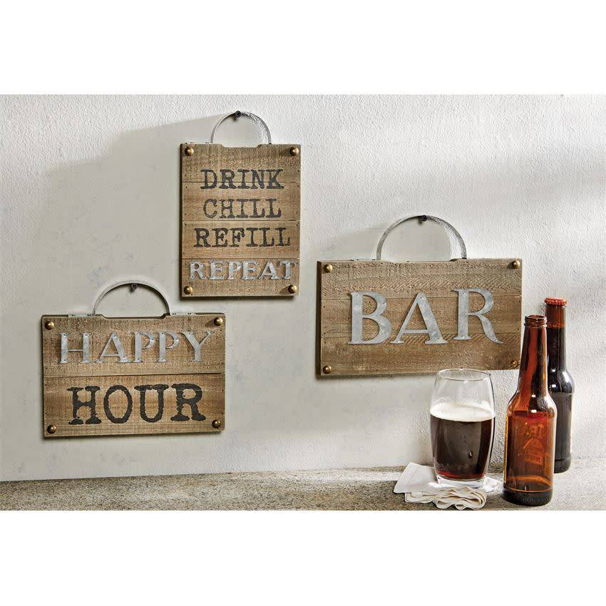 Mudpie BAR PLAQUE WITH HANDLE