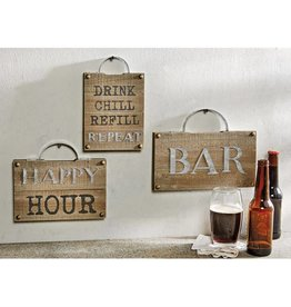 Mudpie HAPPY BAR PLAQUE WITH HANDLE