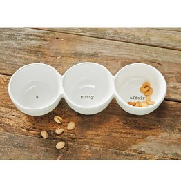 Mudpie A NUTTY AFFAIR CERAMIC TRIO