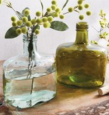Mudpie GREEN WHISKEY BOTTLE VASE