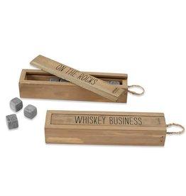 Mudpie WHISKEY BUSINESS ROCK BOX SET