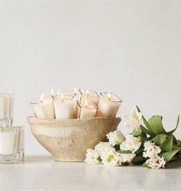 Fleurish Home Lavender Fields Square Glass Votive Candle