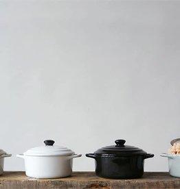 Fleurish Home Stoneware Mini Baker w/ Lid (Choice of 4 Neutral Colors)