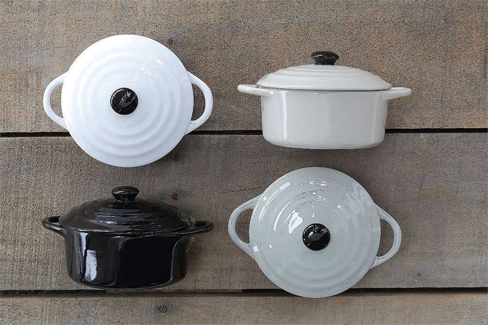 Fleurish Home Stoneware Mini Baker w/ Lid (Choice of 4 Neutral Colors)