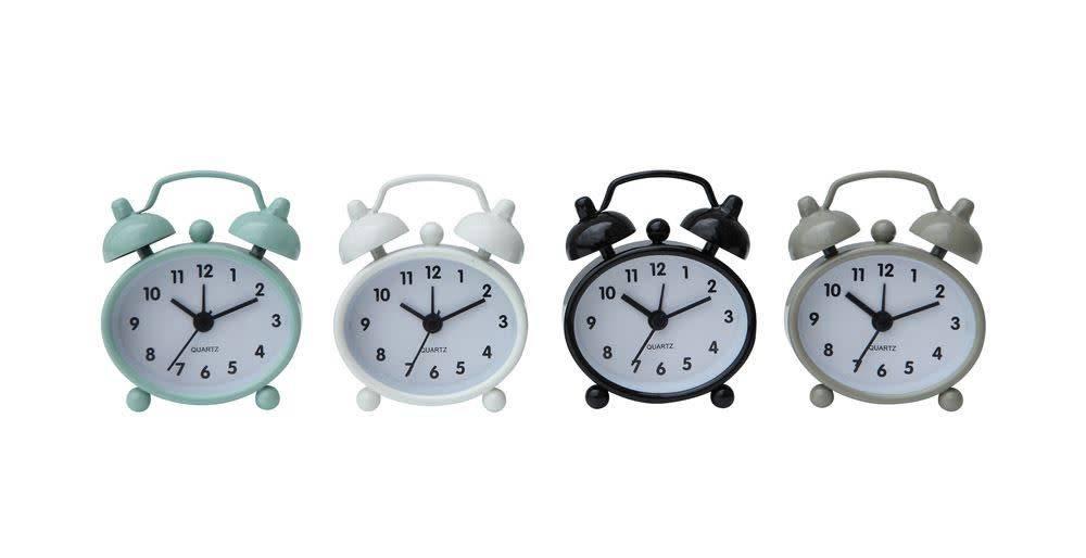 Fleurish Home Mini Metal Alarm Clock (choice of 4 Neutral Colors)