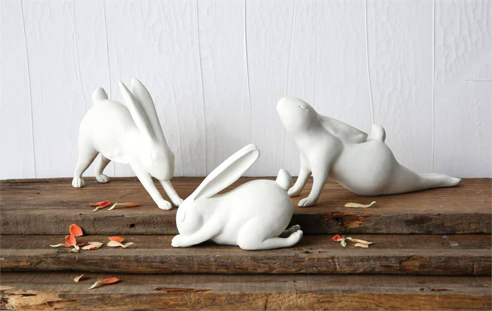 Fleurish Home Forward Bend Yoga White Rabbit