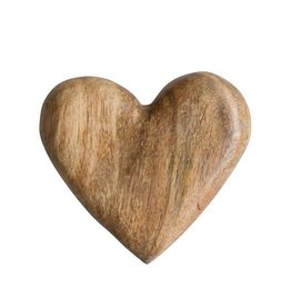 Fleurish Home Hand Carved Mango Wood Heart