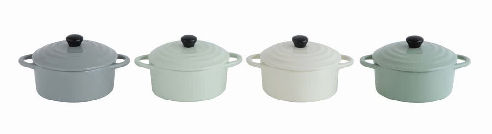Fleurish Home Stoneware Mini Baker w/ Lid (Choice of 4 Pastel Colors)