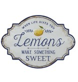 "Fleurish Home ""When Life Gives You Lemons"" Metal Wall Decor"