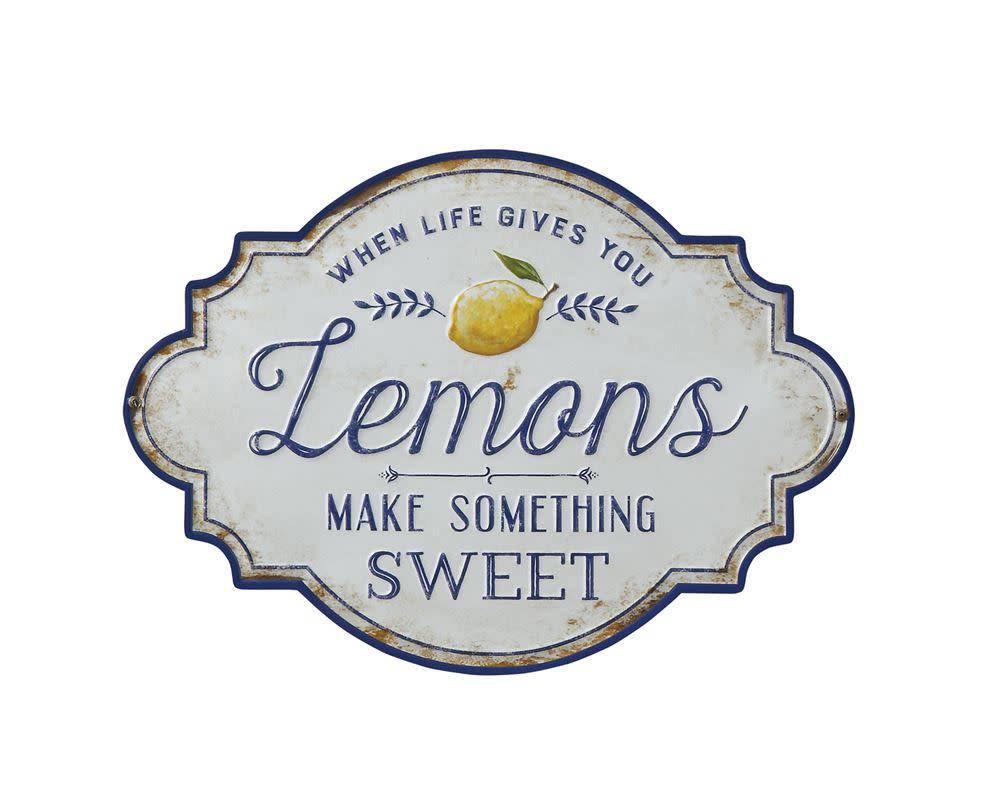 """Fleurish Home """"When Life Gives You Lemons"""" Metal Wall Decor"""