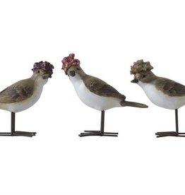 Fleurish Home Bird w Flower Hat (choice of 3 styles)