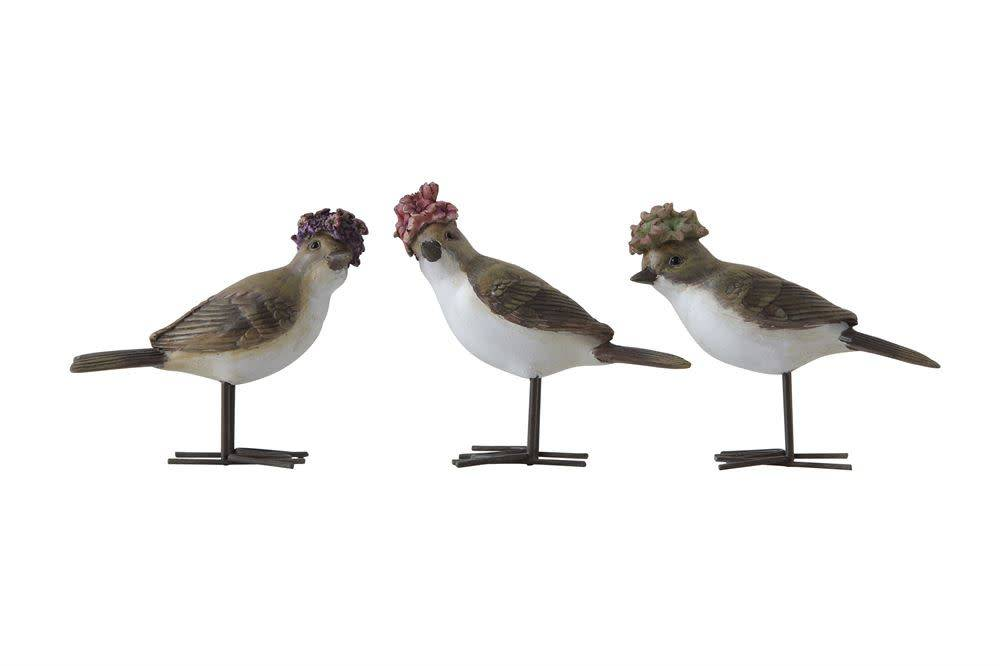 Fleurish Home Bird w Flower Hat (choice of 3 styles)