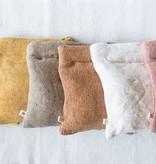"""Fleurish Home Cotton & Jute Zip Pouch (choice of 6 colors) 11""""L x 10""""H"""