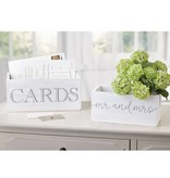 Mudpie MR & MRS CARDS BOXES (SET OF 2)