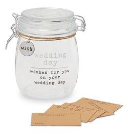 Mudpie WEDDING SENTIMENT JAR