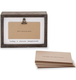 Mudpie INSPIRATIONAL CARDS FRAME SET (happiness)
