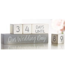 Mudpie WEDDING COUNTDOWN BLOCKS