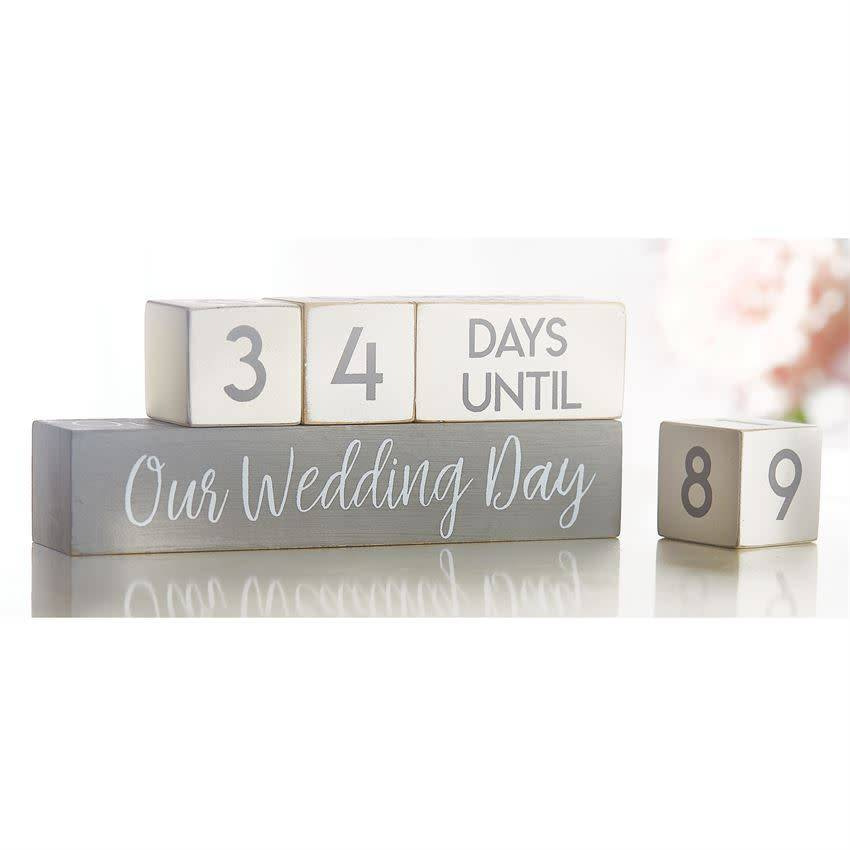 Mudpie WEDDING COUNTDOWN BLOCKS