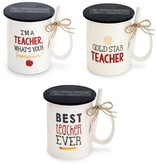 Mudpie BEST TEACHER MUG WITH CHALK