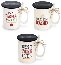 Mudpie BEST TEACHER MUG WITH CHALK *last chance